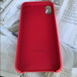 Accessories - iPhone X Luxury Red Leather Case